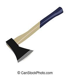 斧子, 背景, 插圖, 被隔离, 白色