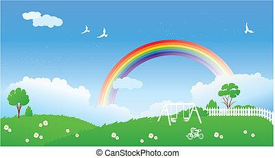 斯普林場景, 彩虹