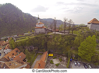 斯洛文尼亞, kamnik, 空中的觀點