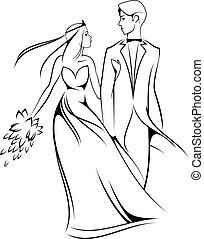 新娘, 新郎