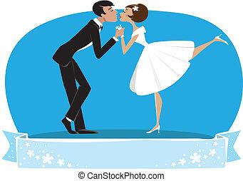 新郎, 新娘, 親吻