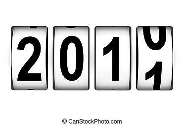 新, 計數器, 2011, 年