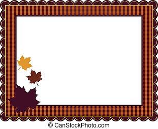 方格花布, 框架, 秋天