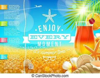 旅行, 假期, 暑假, 矢量, 設計