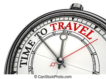 旅行, 概念, 時間鐘