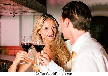旅館, 調情, 酒吧, businesspeople, 暫存工