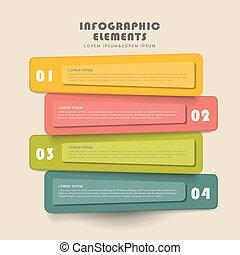 旗幟, 創造性, 設計, infographics