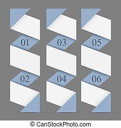旗幟, 垂直, 紙, origami, 編號