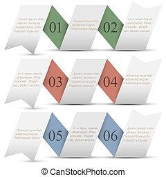 旗幟, 紙, origami, 三, 編號