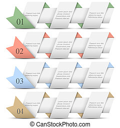 旗幟, 紙, origami, 四, 編號
