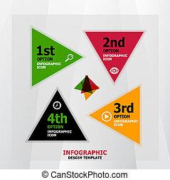 旗幟, 网, infographic, 設計, 樣板