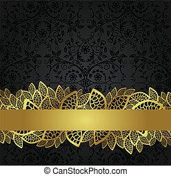 旗幟, 黃金, 牆紙, 黑色