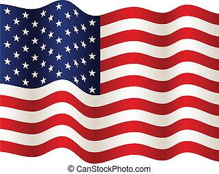 旗, 矢量, 美國