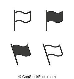 旗, 矢量, 集合, 圖象