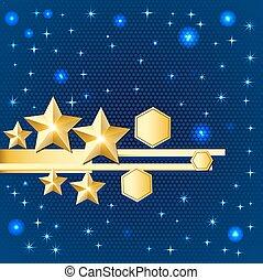 明亮, 摘要, 星, 金, 背景