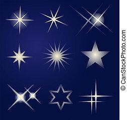 明亮, 集合, 星