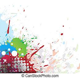 明亮, splat, 設計, 顏色, 墨水