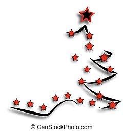 明信片, 樹, 聖誕節