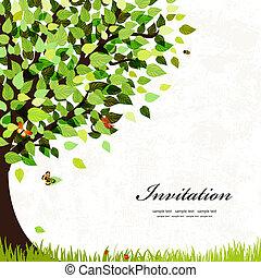 明信片, 樹, 設計