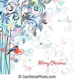 明信片, 裝飾的設計, 樹
