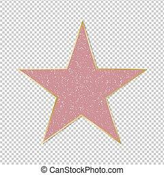 星, 名聲, 背景, 透明