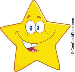 星, 微笑, 字