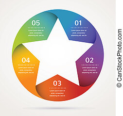 星, 摘要, infographics, 背景, 設計, 圖象