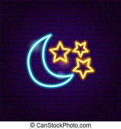 星, 月亮, 氖徵候