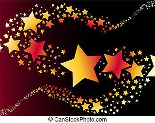 星, 矢量, 射擊, 插圖