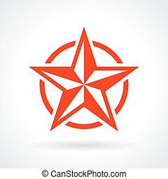 星, 紅色, 圖象