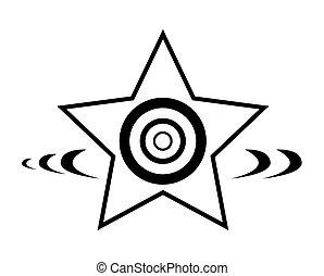 星, 設計, retro, 元素