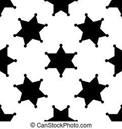 星, 郡長, 圖案, seamless, 插圖, 背景。, 矢量, 六線形, 白色, 徽章, 圖象