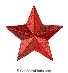 星, 金屬, 被隔离, 錫, 背景, 懸挂, 白色紅