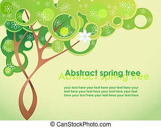 春天, 摘要, 花, 樹