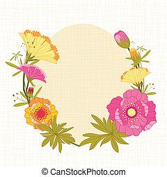 春天, 花, 鮮艷, 背景