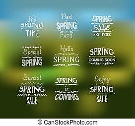 春天, 裝置設計, 印刷上