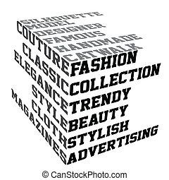 時裝, 條款, 印刷術