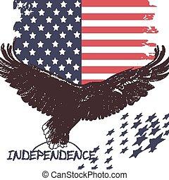 時裝, 背景, 美國, 時髦, 旗