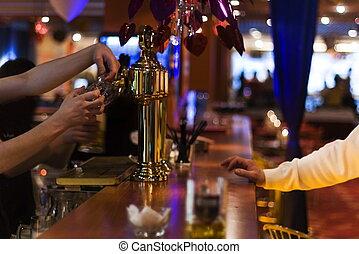 時髦, 啤酒, 酒吧, 夜晚