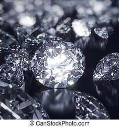 晴朗, 背景, 鑽石