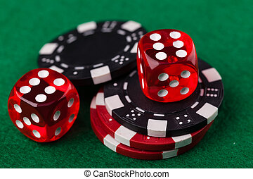 晶片, 骰子, 紅色