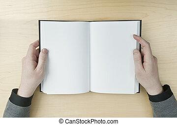 書, 閱讀, 人, 空白