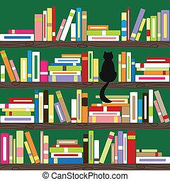 書, 鮮艷, 書架