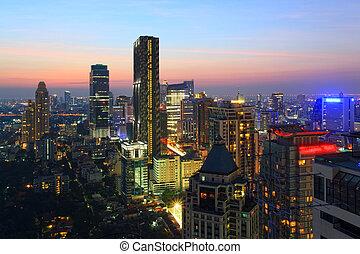 曼谷, 都市風景, 地平線