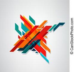 最簡單派藝術家, 不同, 摘要, (3d, 事務, concept., 現代, 線, 斜紋織物, 被模糊不清, 顏色, 矢量, 幾何學, 元素, effect)., design.