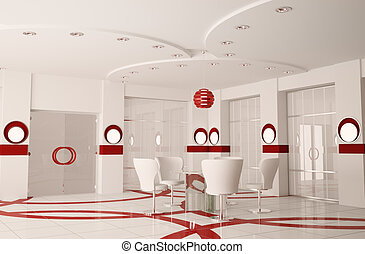 會議室, 內部, 現代, 3d