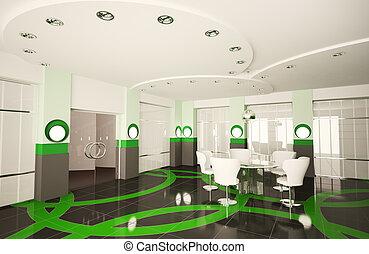 會議室, 現代, 3d