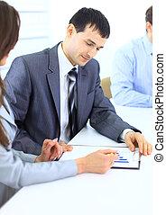 會議, 年輕, 事務