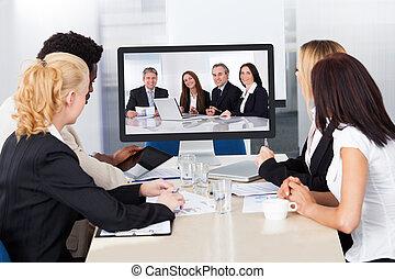 會議, 影像, 辦公室