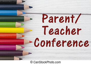會議, 正文, 粉筆, parent-teacher, 鉛筆